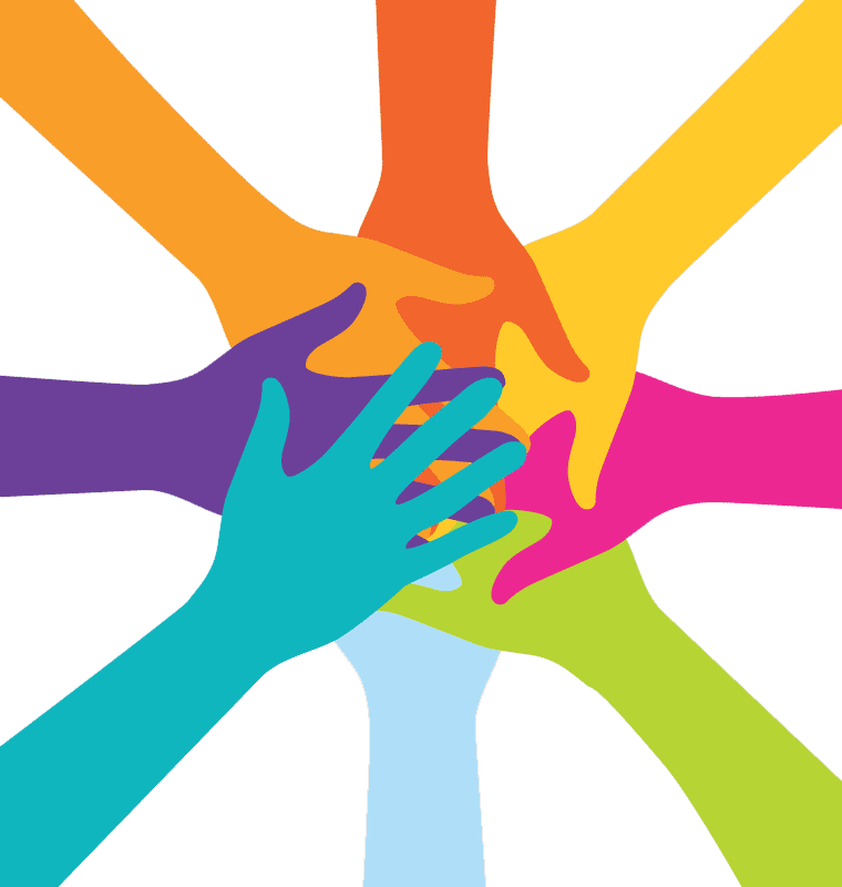 Ethical investing for charities. Hand clipart teamwork