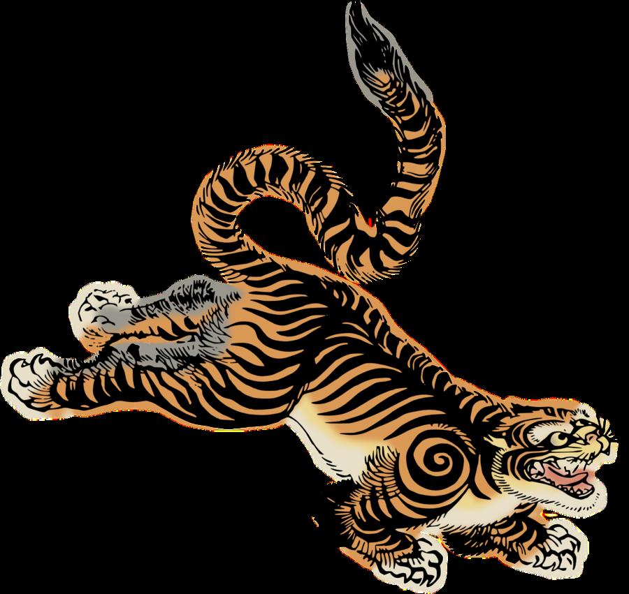 Tiger by hansendo on. Japanese clipart korean