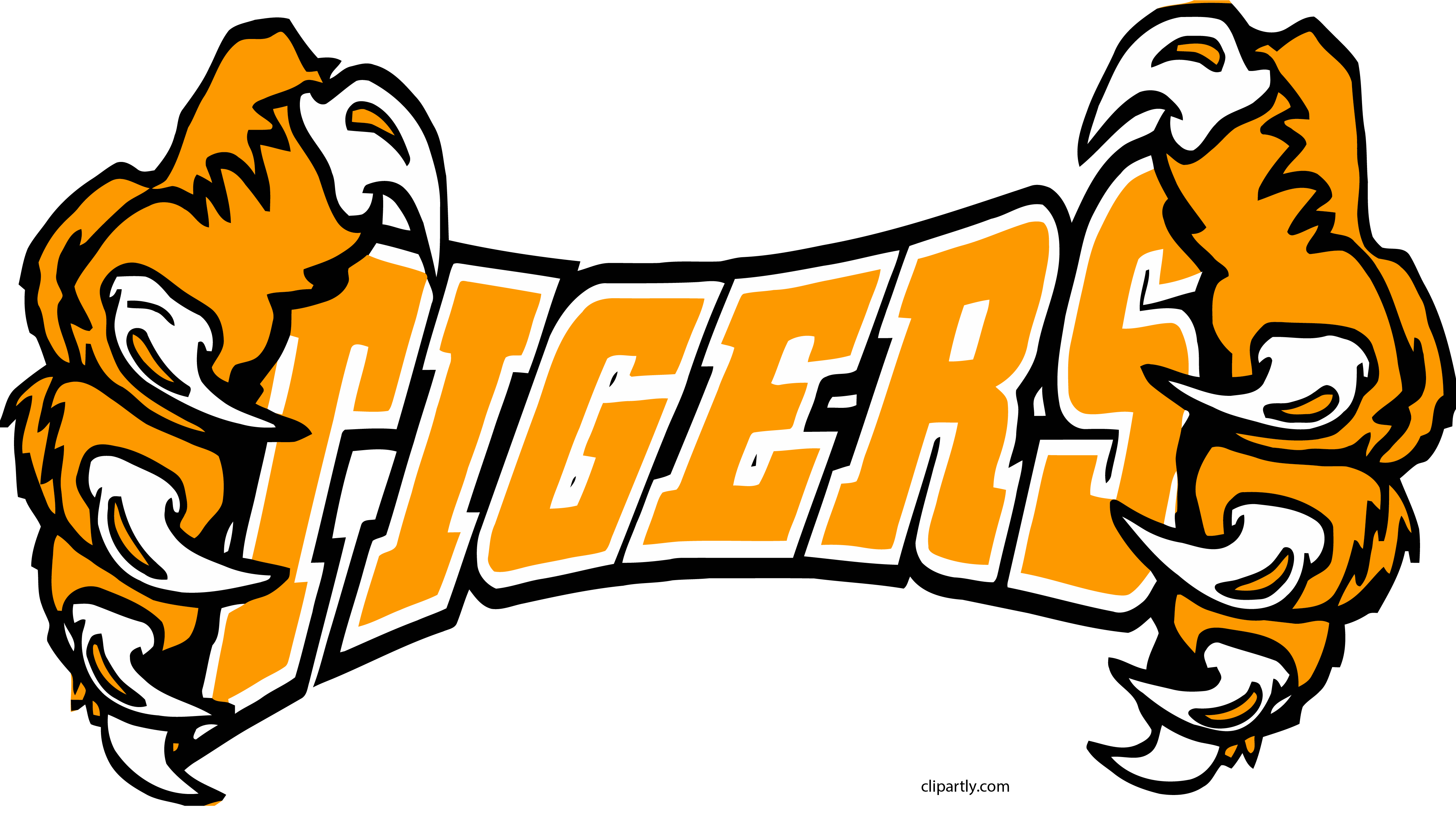 Clipart tiger hand. Tigers hands png clipartly