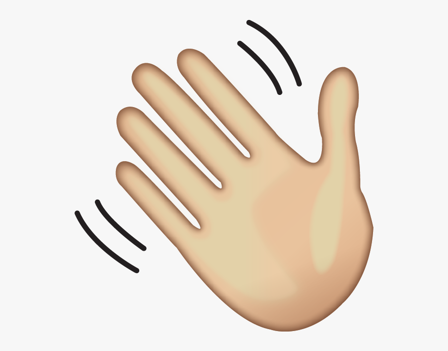 Hands clipart transparent background. Hello wave hand emoji