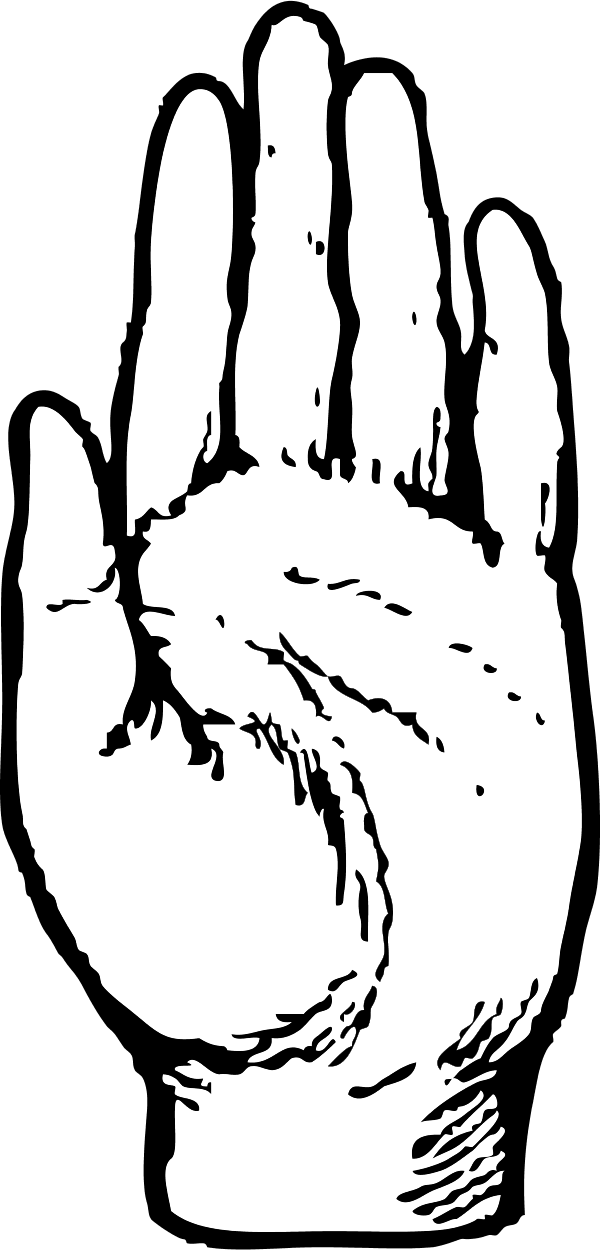 Clipart hand unity. Sideways pencil and in