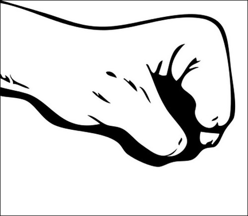 useful hand vector. Fist clipart side view