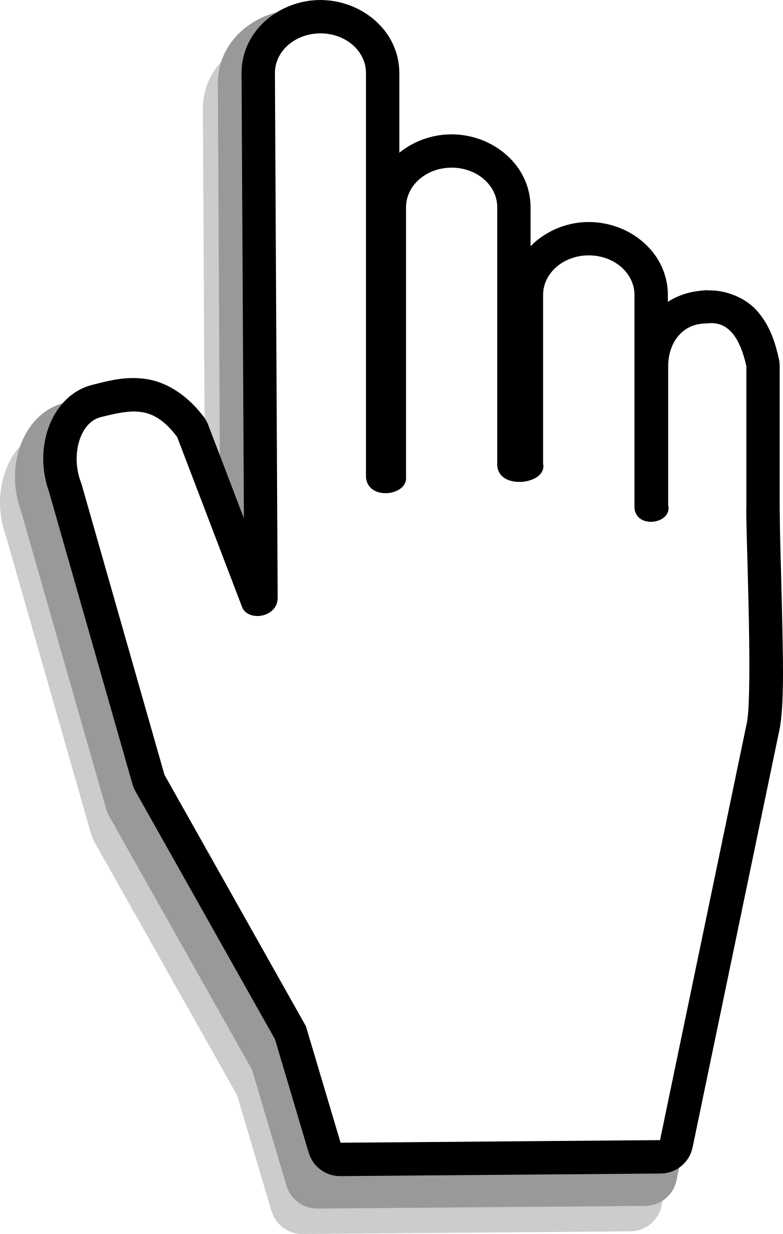 Fingers clipart two. Select gallery images hand