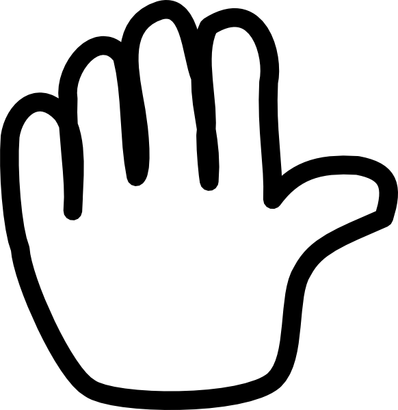 Hand clipart wave goodbye. Clip art at clker