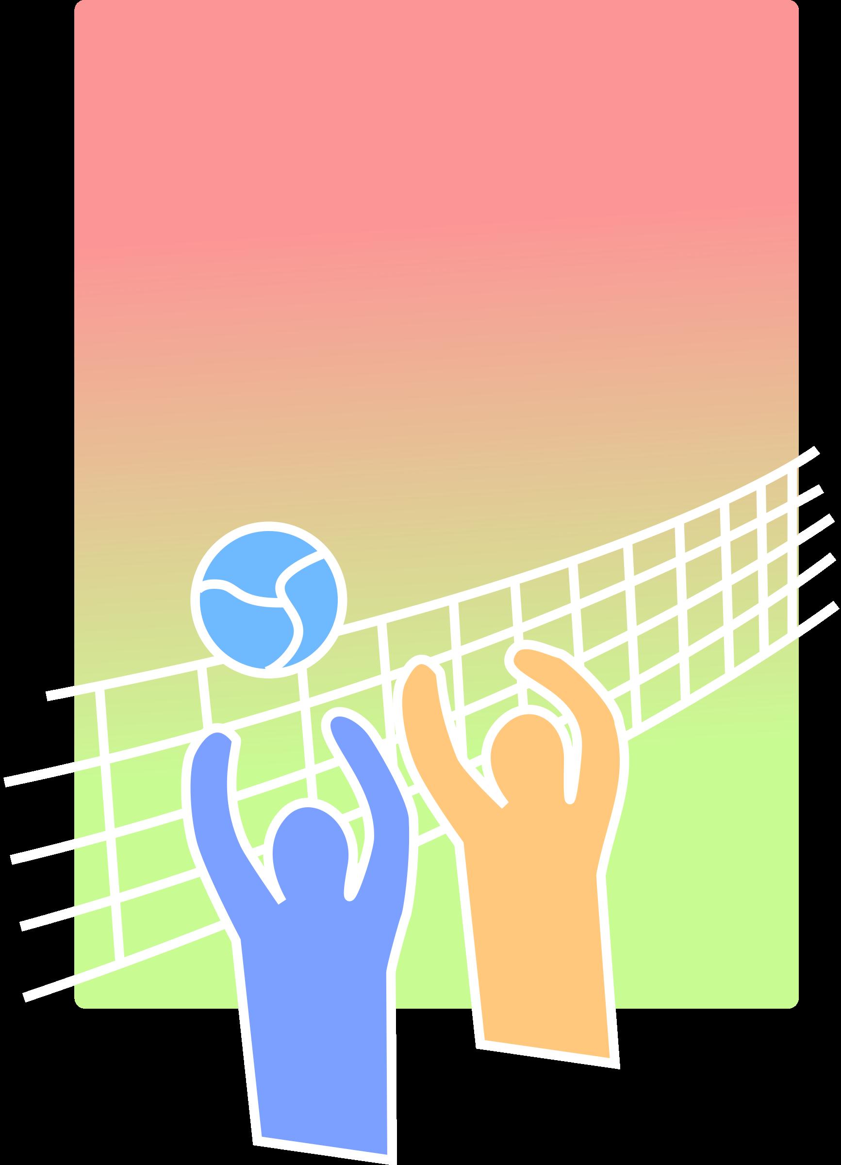 Volleyball hand