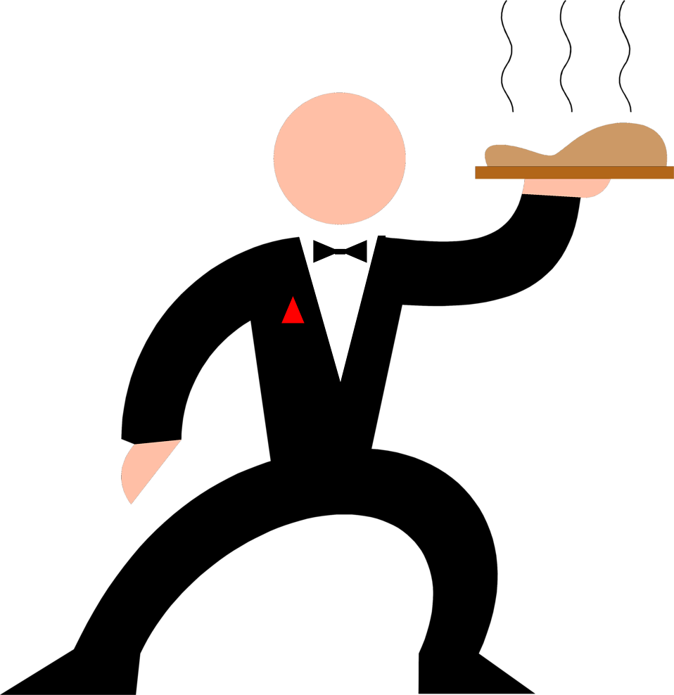 Waiter free stock photo. Dinner clipart big meal