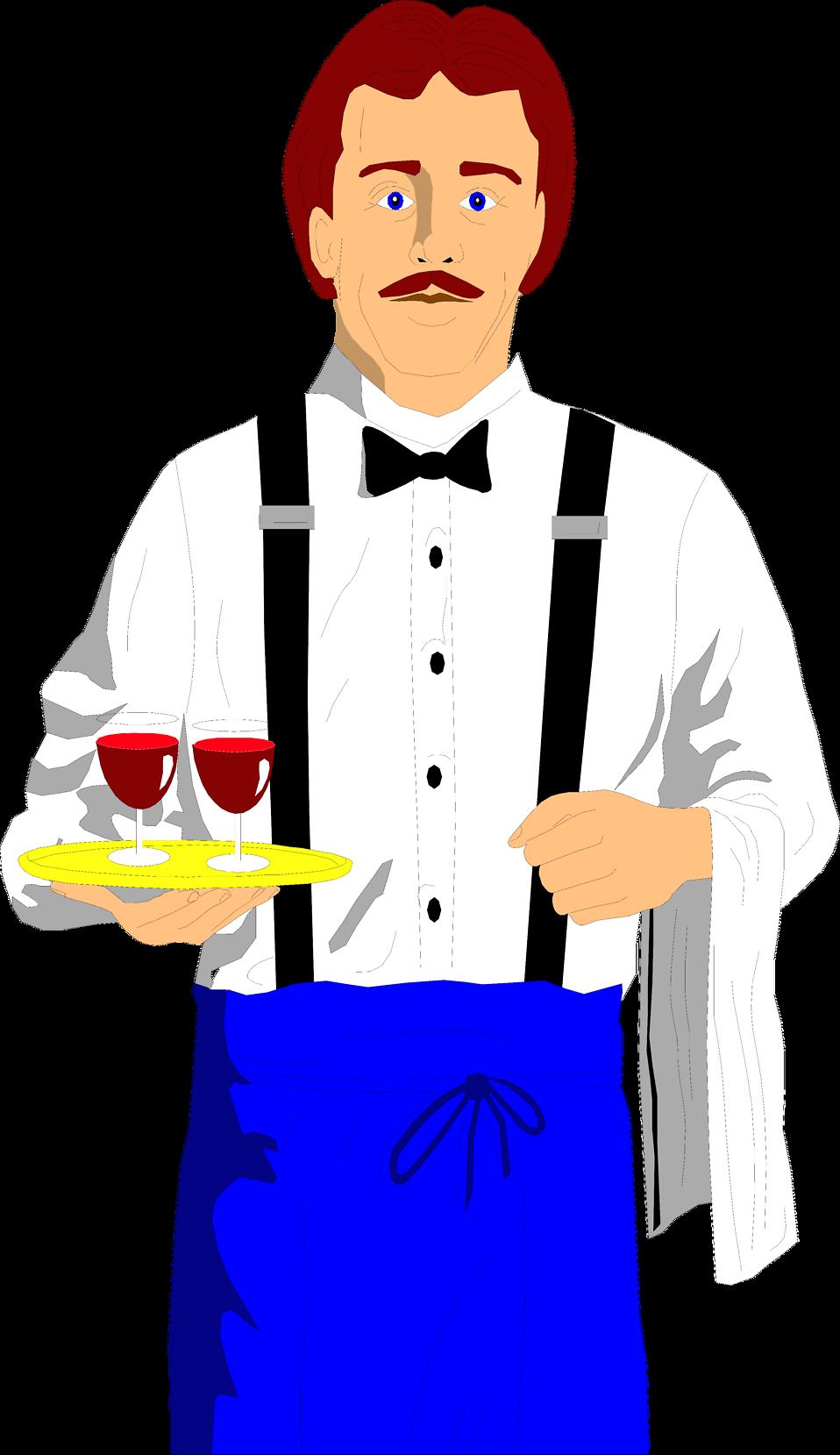 Waitress clipart food service. Waiter free stock photo