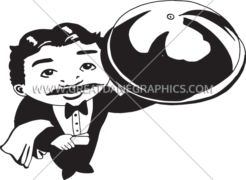 Production ready artwork for. Hand clipart waiter