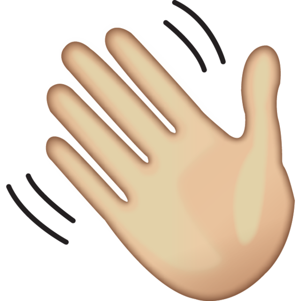 collection of waving. Hand clipart wave goodbye