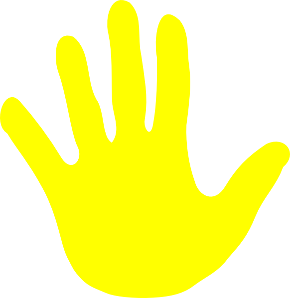Animated waving hand cliparts. Colors clipart yellow