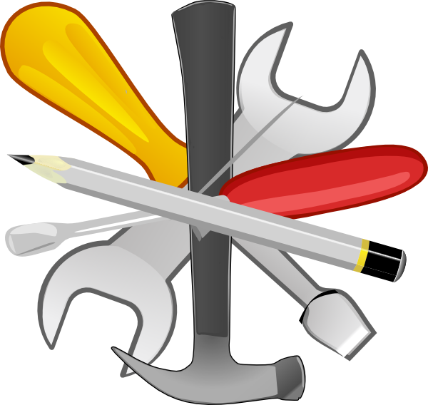 tools huge freebie. Clipart hand wrench