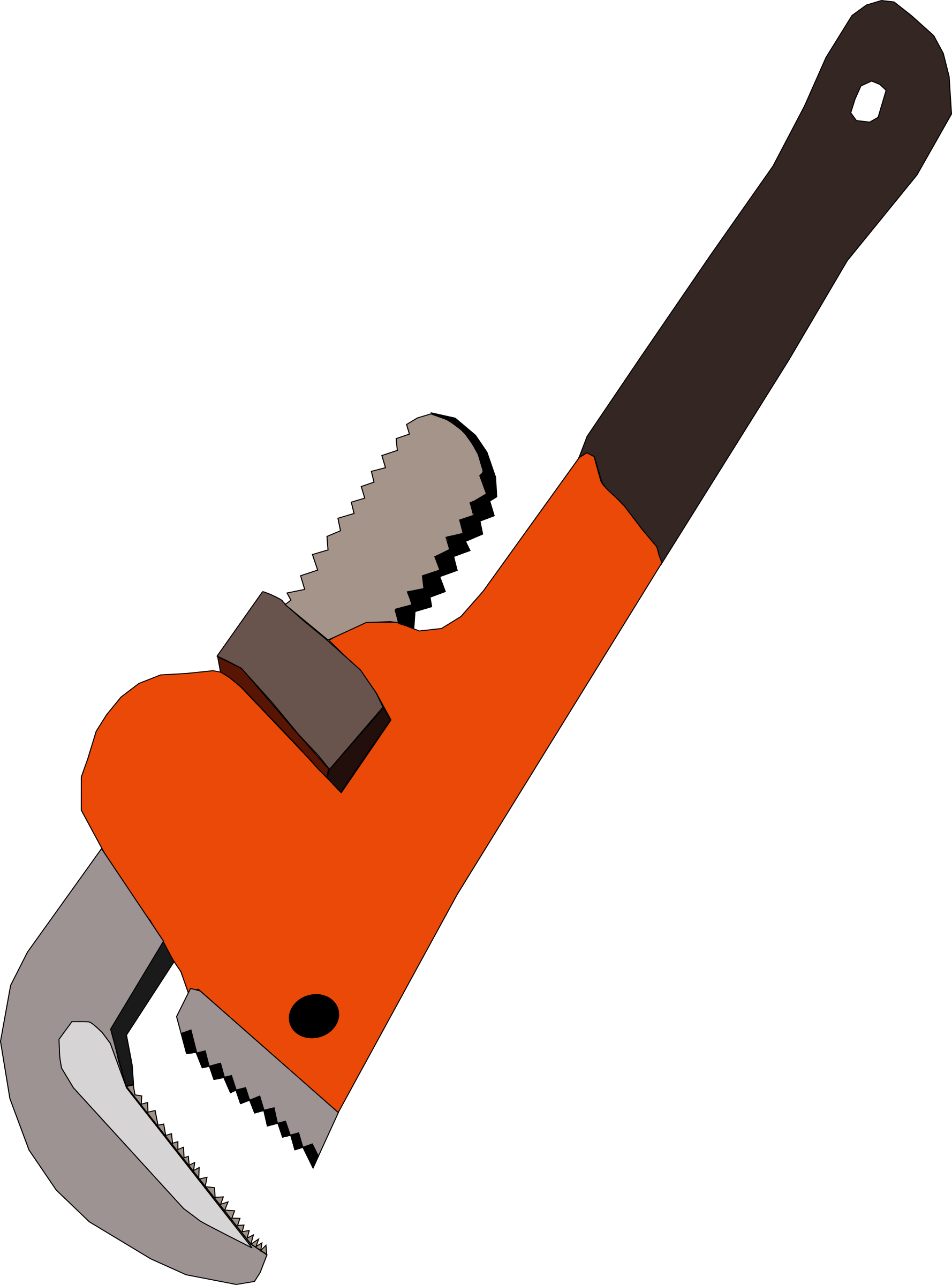 Pipe big image png. Clipart hand wrench