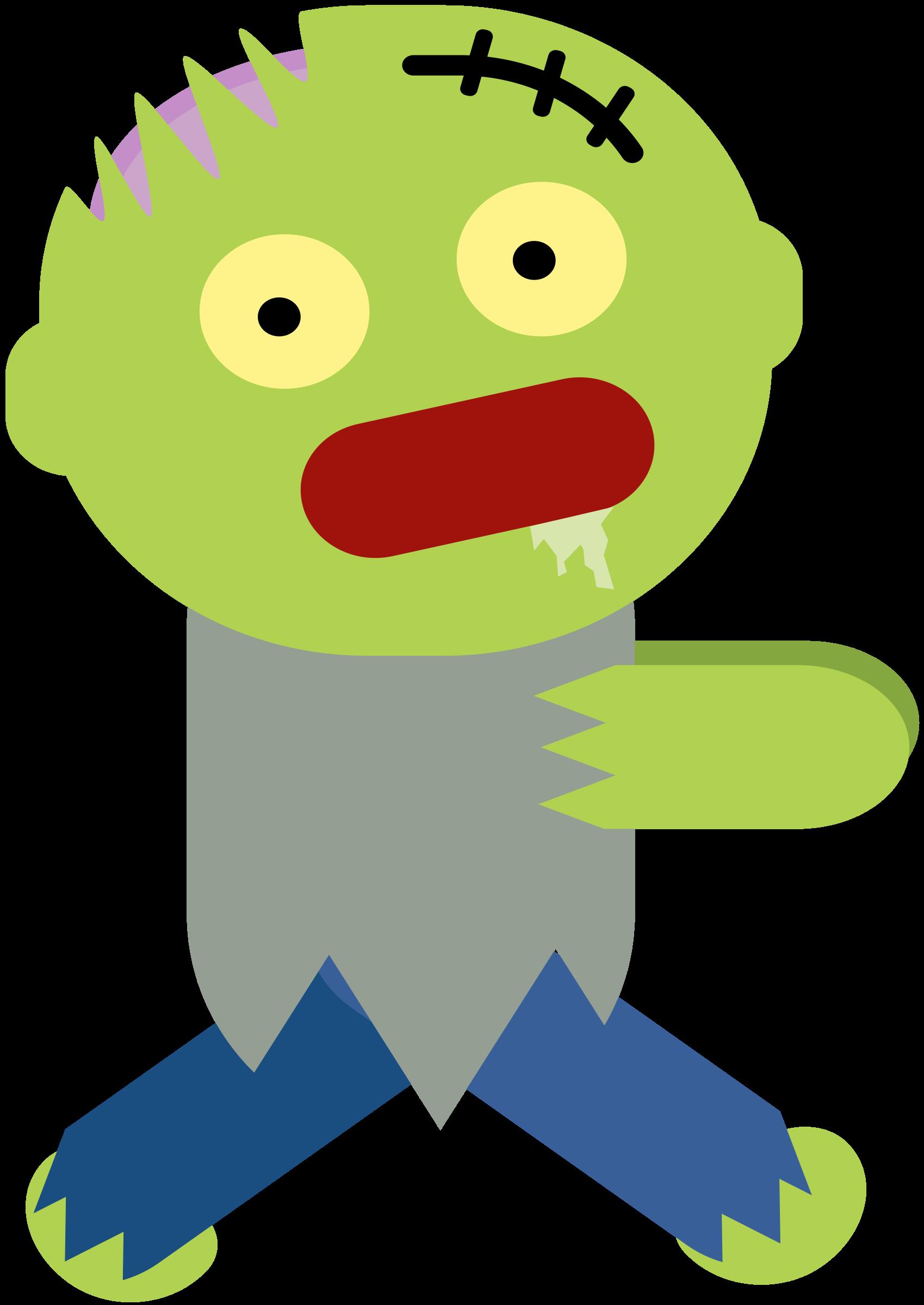 zombie clipart carton