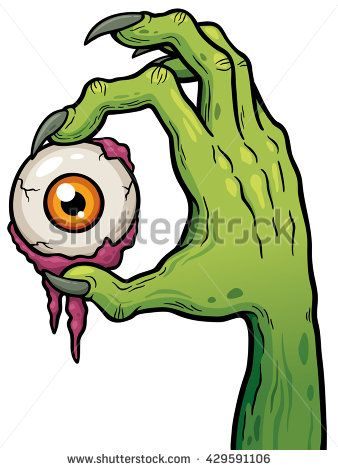 Vector illustration of cartoon. Zombie clipart eyes