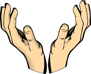 Clipart hands. Raised clip art at