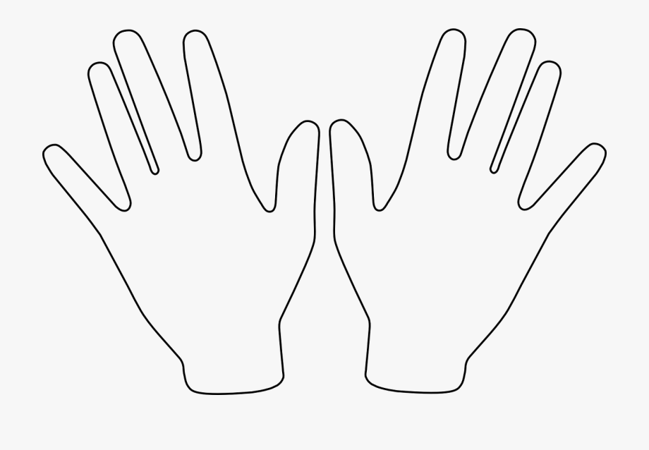 Pair open free picture. Hands clipart