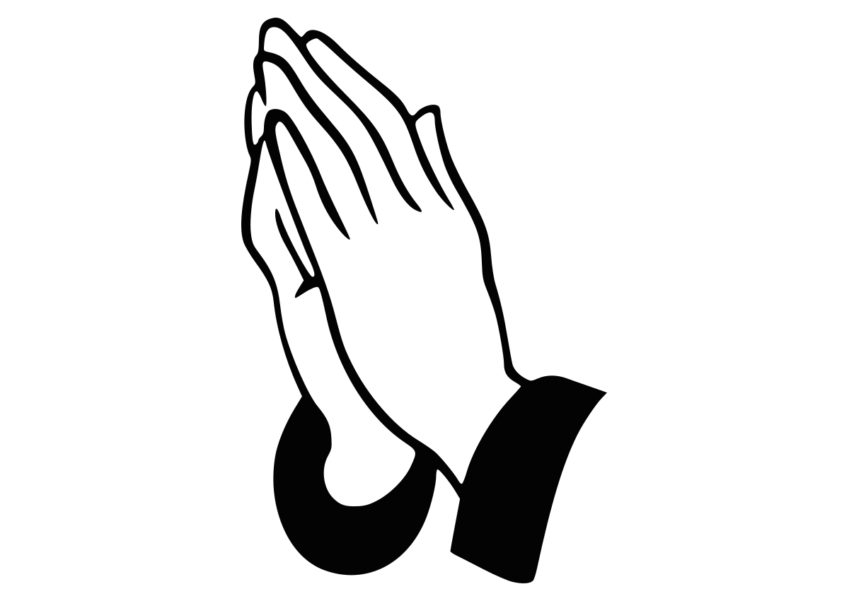 Hands clipart amen. Praying prayer silhouette clip