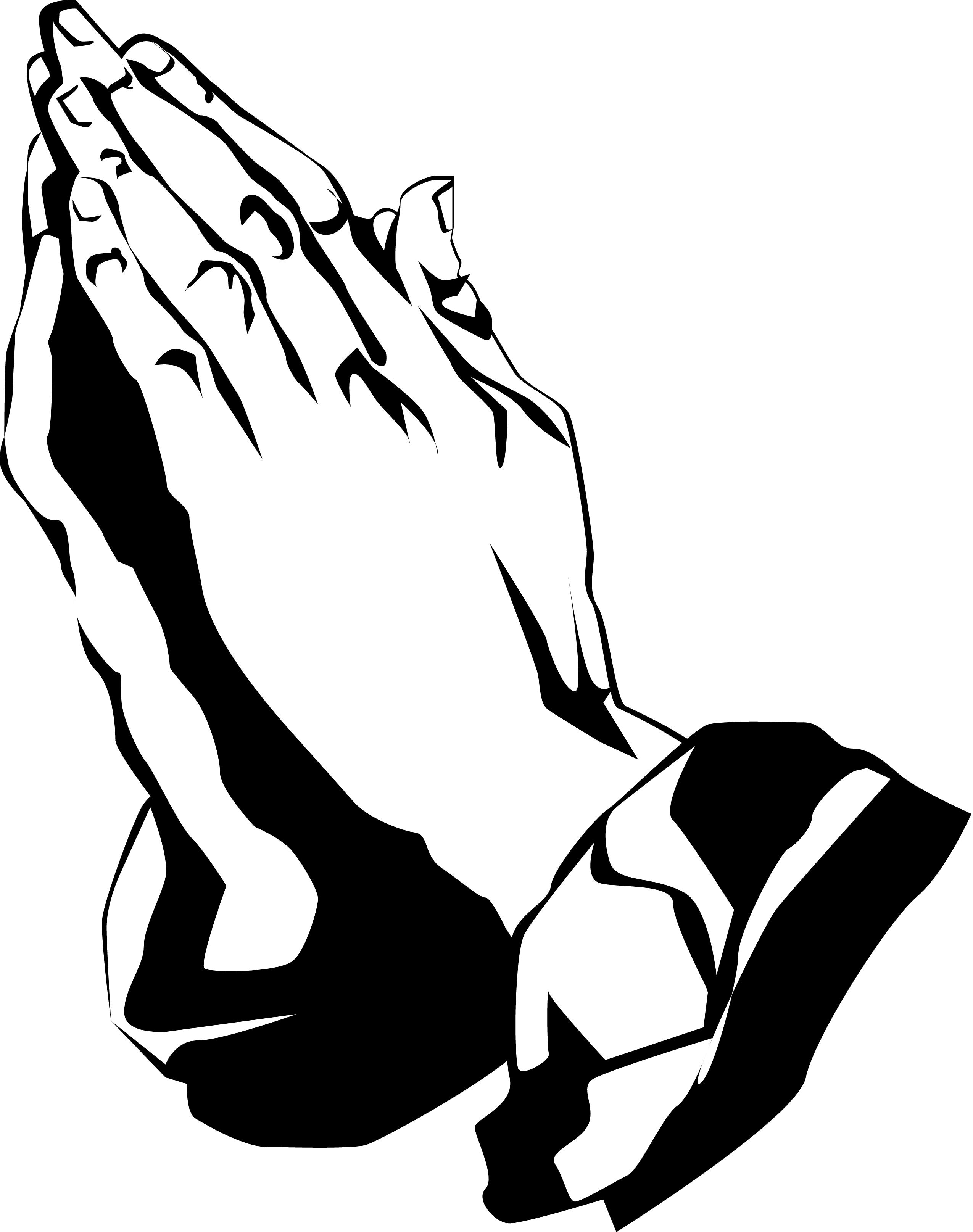 Church praying wikiclipart . Hands clipart amen