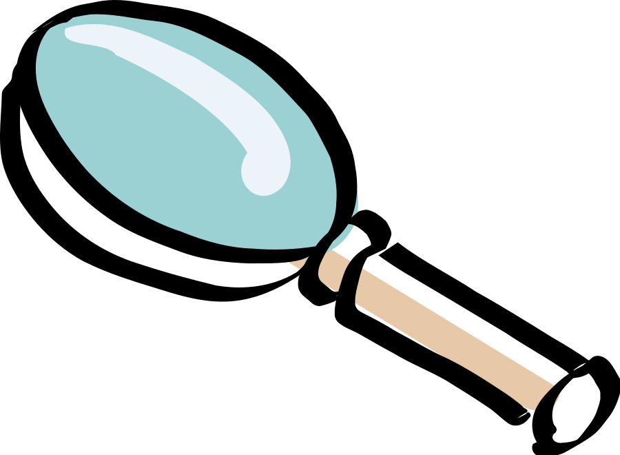 Free cartoon magnifying glass. Clipart hands animation