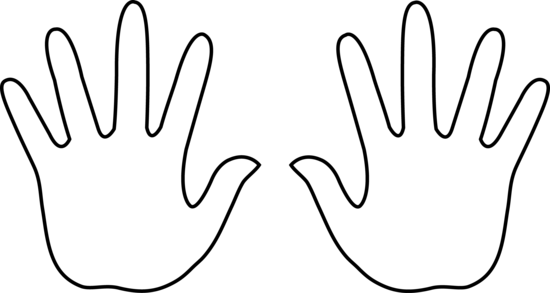 Two panda free . Hands clipart black and white
