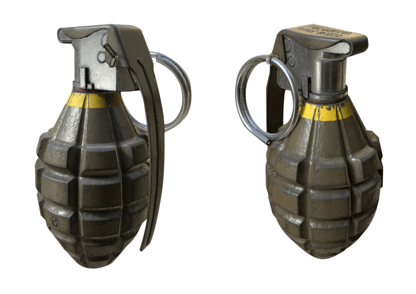 Hand clipart bomb. Grenade png free images