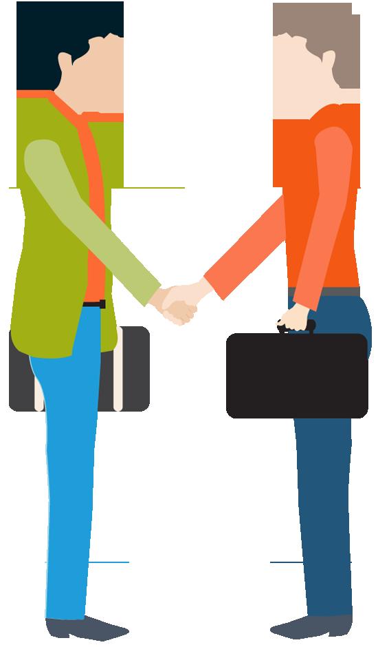 Conversation clipart two man. Business portfolio categories designshop
