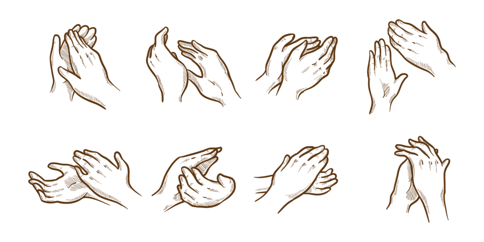 Hand clipart clapping. Hands drawing at getdrawings