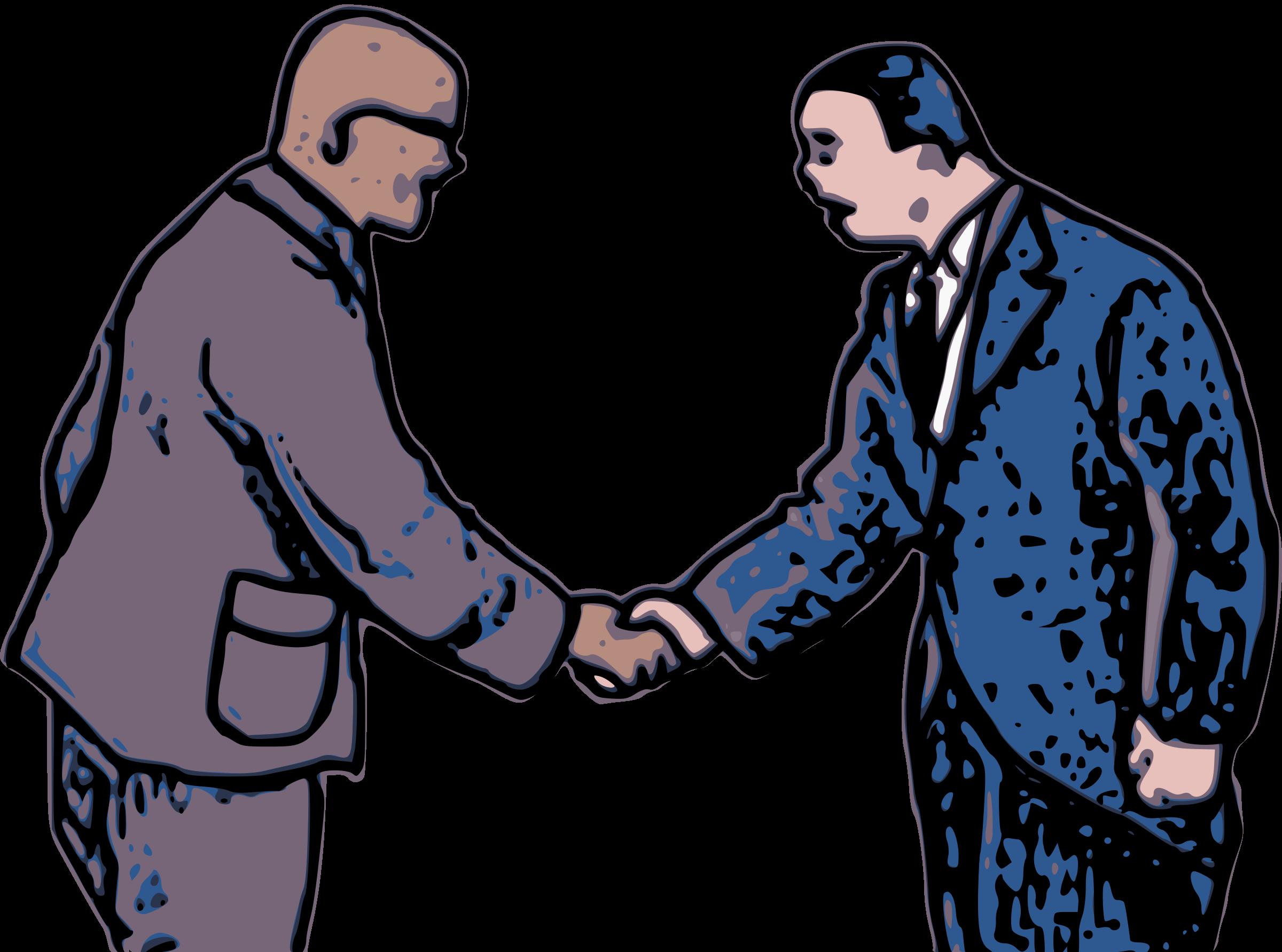 Handshake clipart two. Shake hands big image