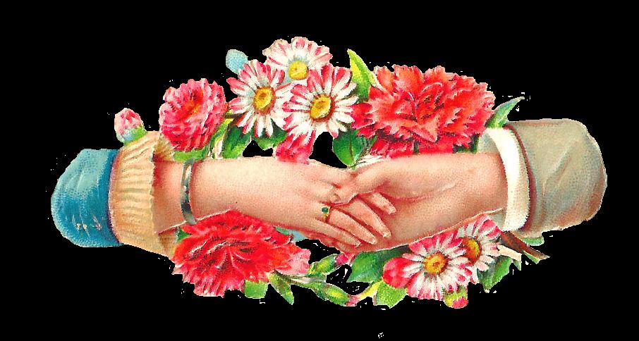 Hands clipart flower. Clip art designs vector