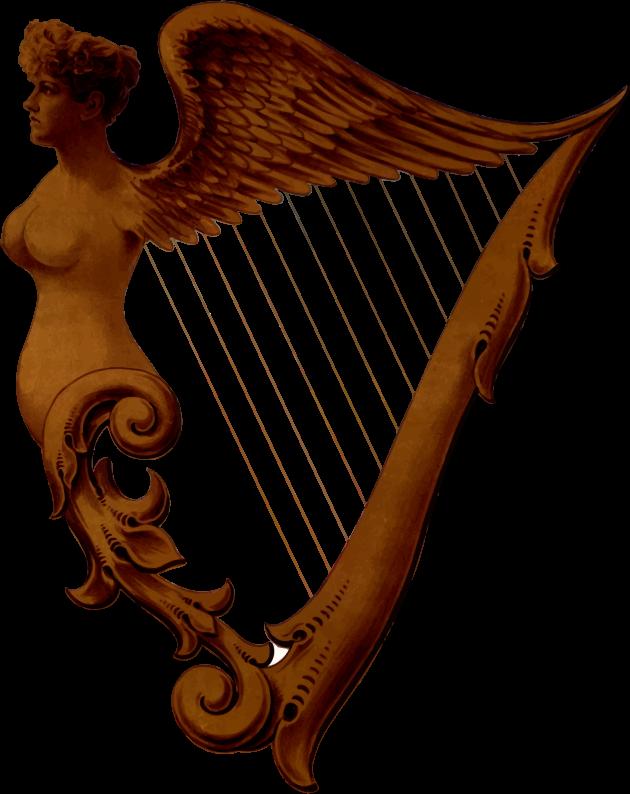 Irish dinner plate. Hand clipart harp