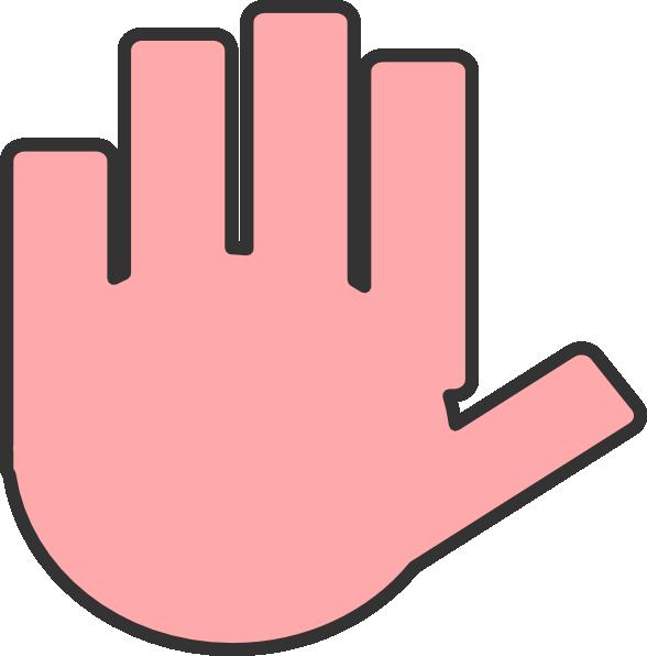 Hands clipart vector. Flat hand pink clip