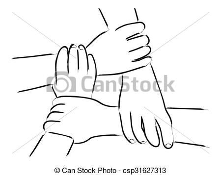 Handshake clipart unity. Vector clip art of