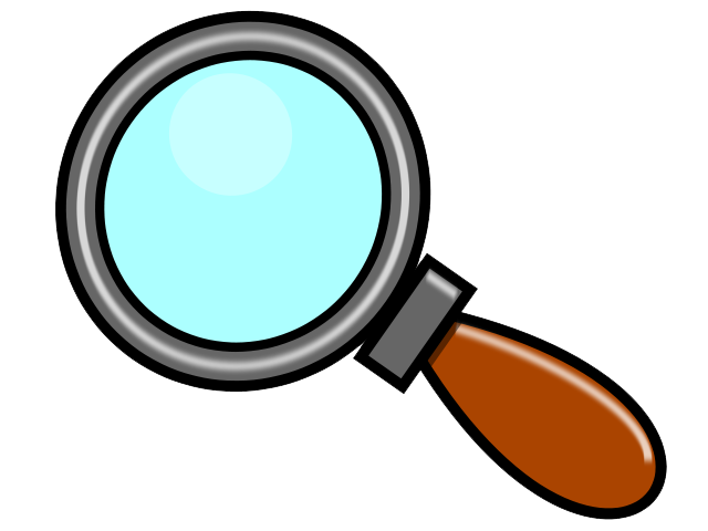 collection of magnifying. Detective clipart magnifier