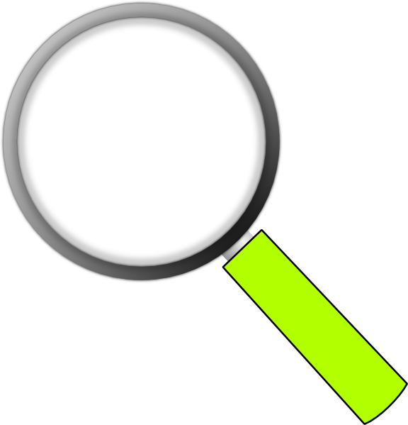 Magnifying glass transparent background. Money clipart translucent