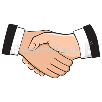 Hands clipart meet. Handshake illustration presentation great