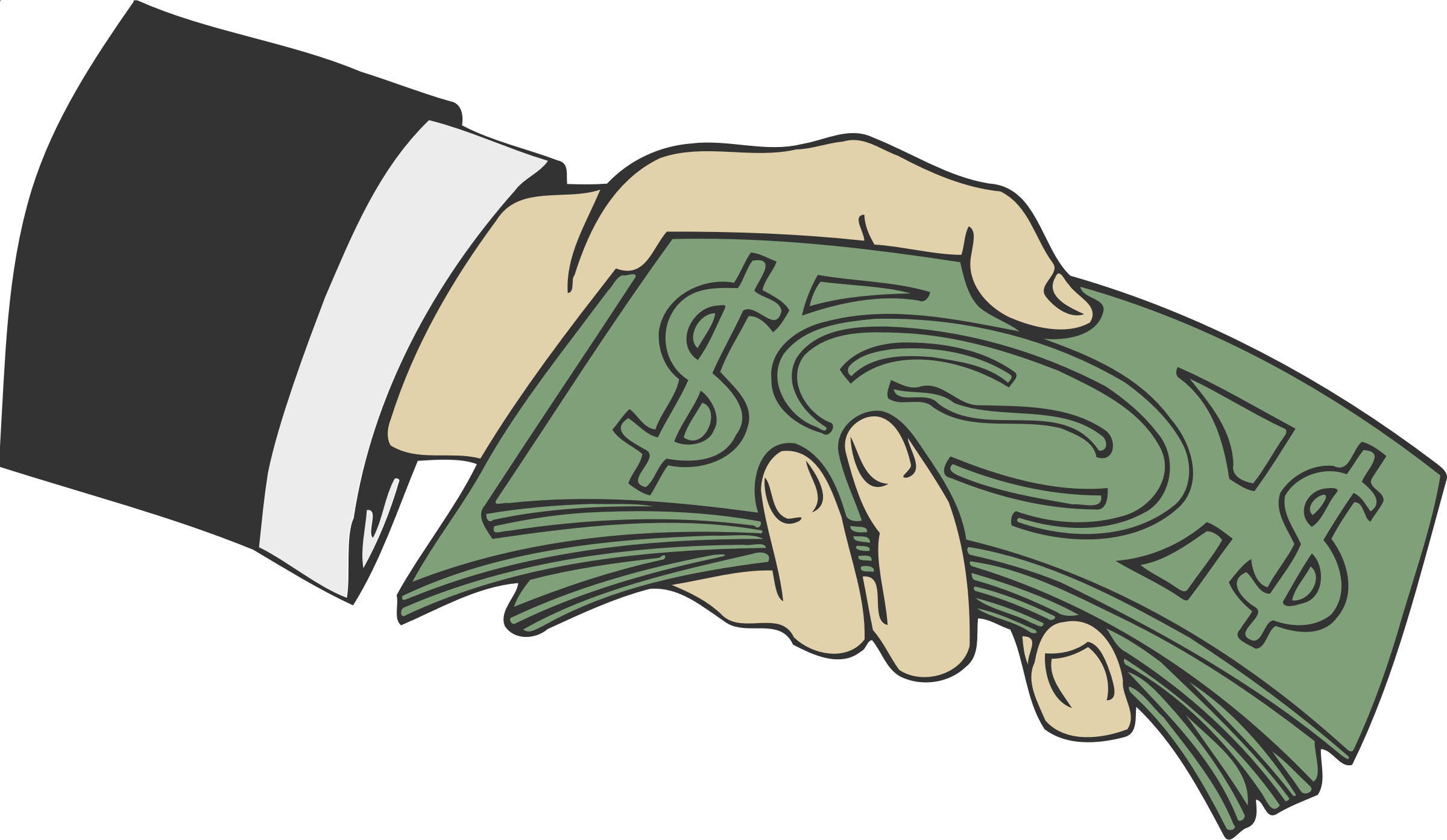 collection of hand. Hands clipart money