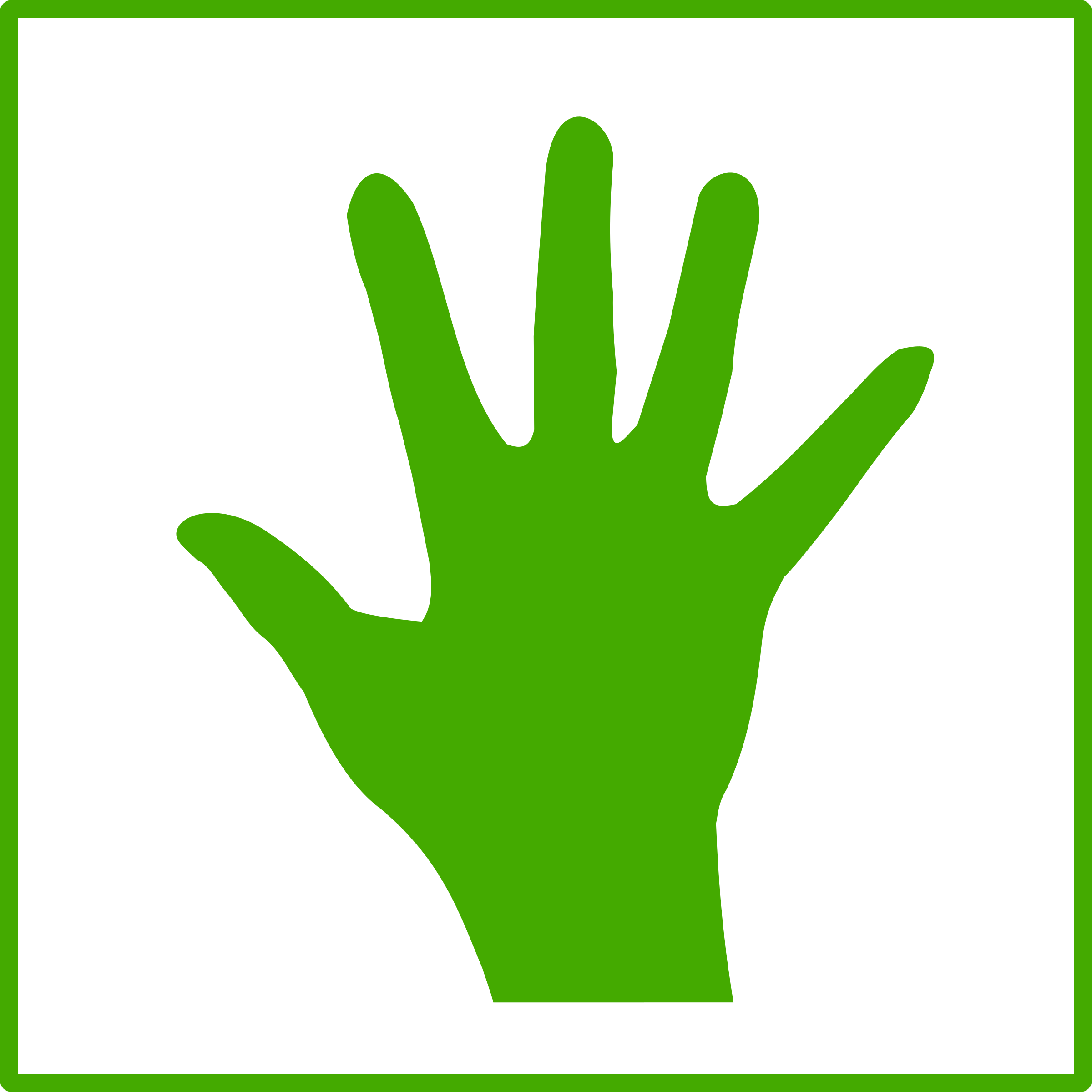 Hands clipart monster.  collection of green