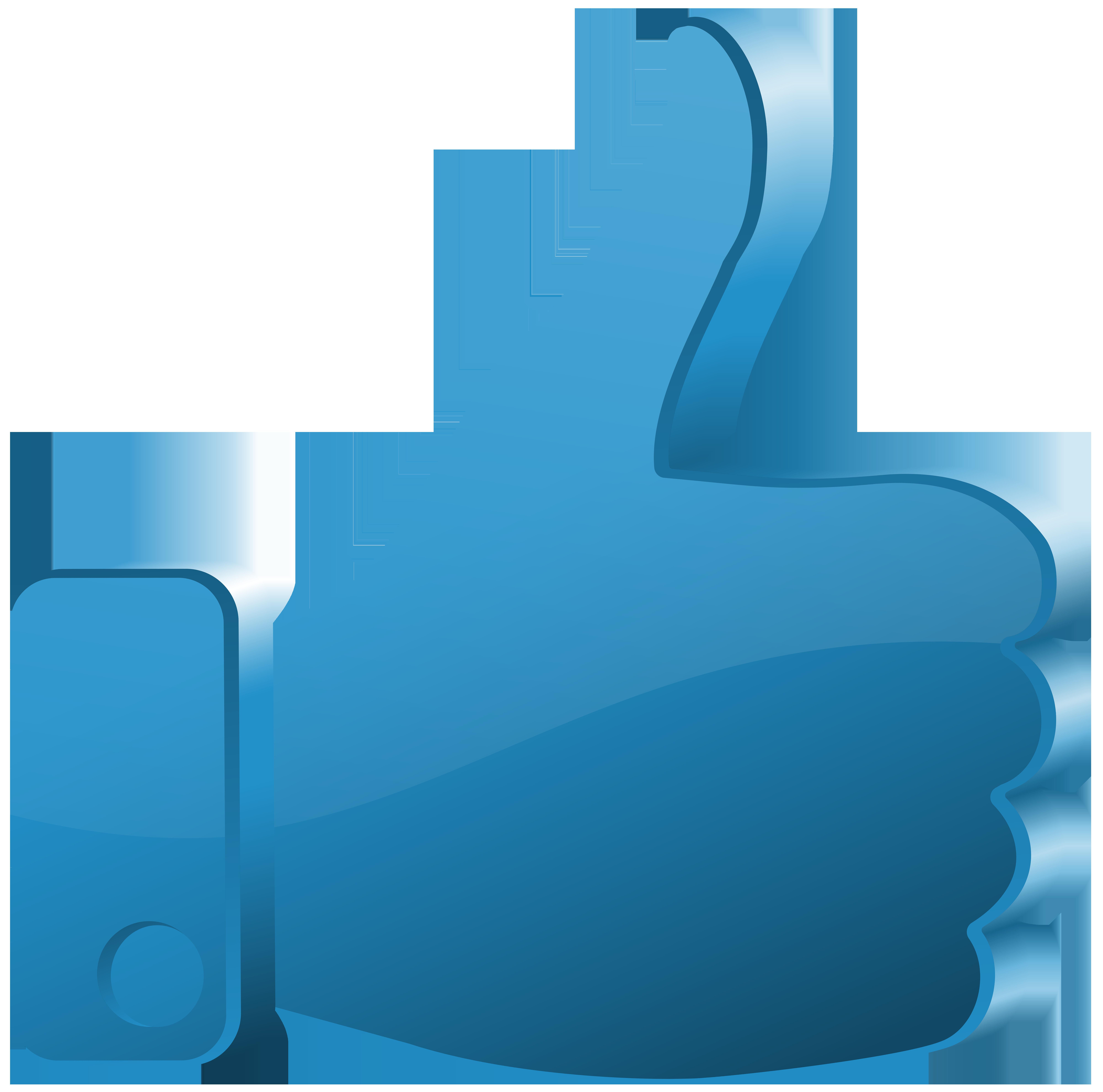 Up clipart png. Thumbs blue transparent clip