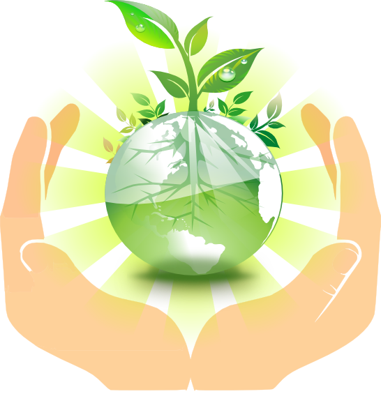 World in our clip. Hands clipart plant