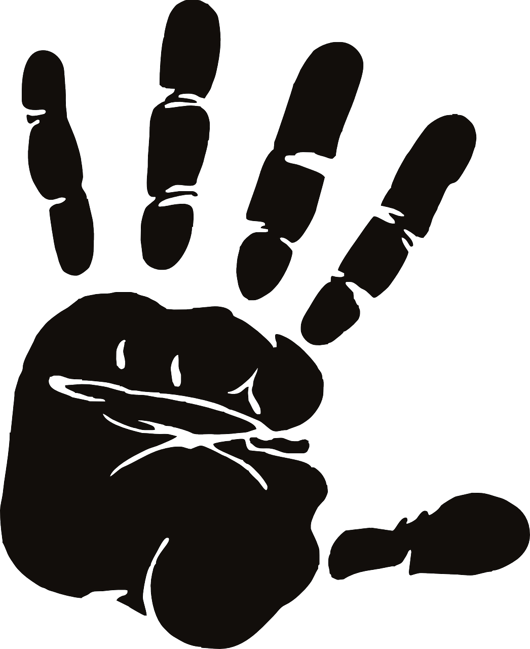 Handprint clipart 5 hand. Local mission matters zipsprout