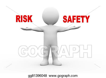 Hands clipart safety. Stock illustration d man