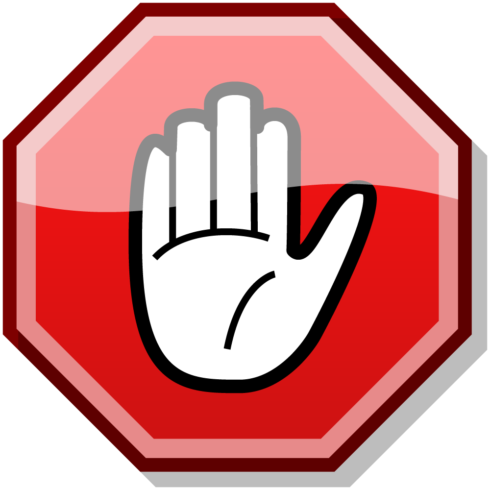 Hand clipart signing.  risk rsg stopsign