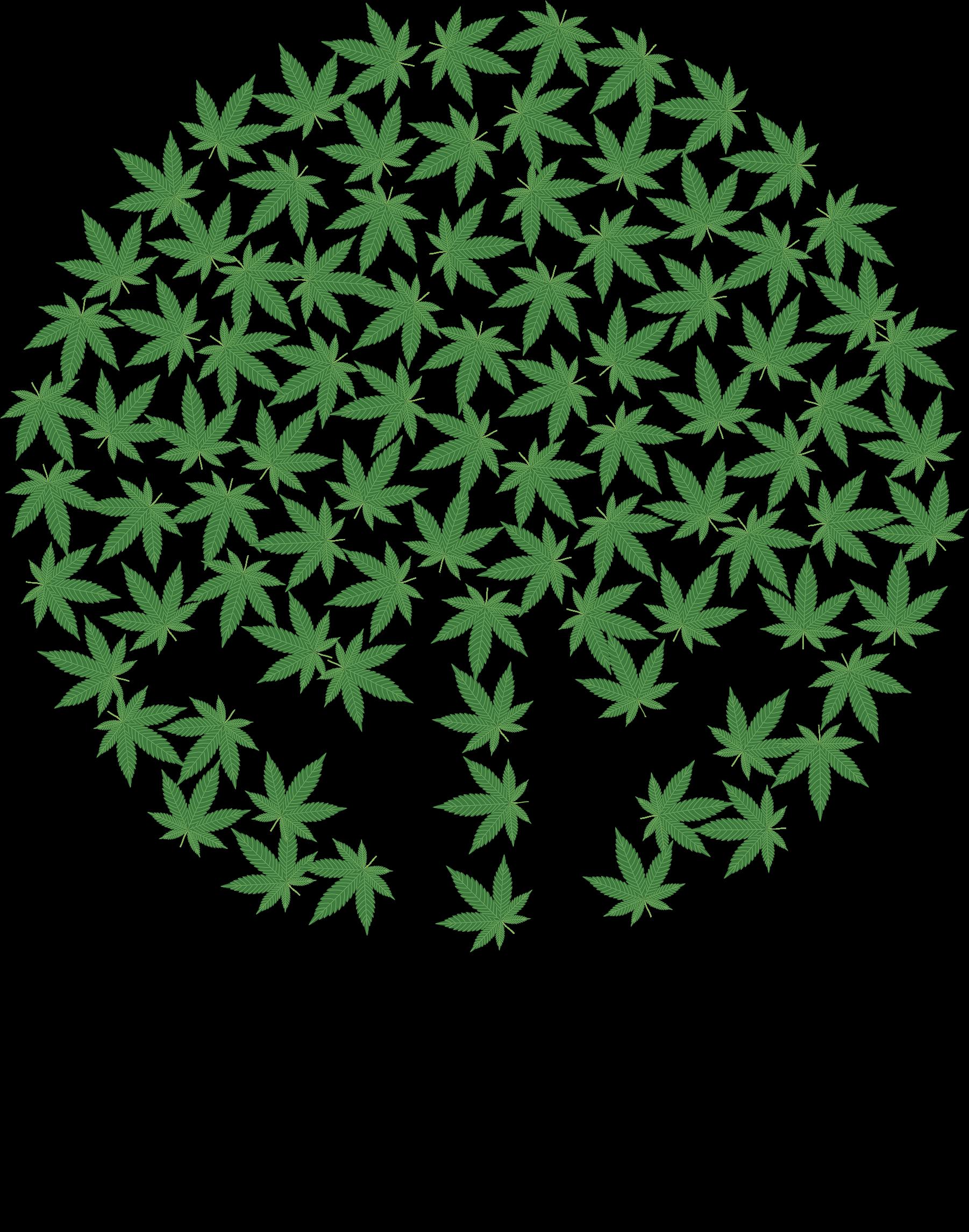 Marijuana clipart pdf. Hands tree big image