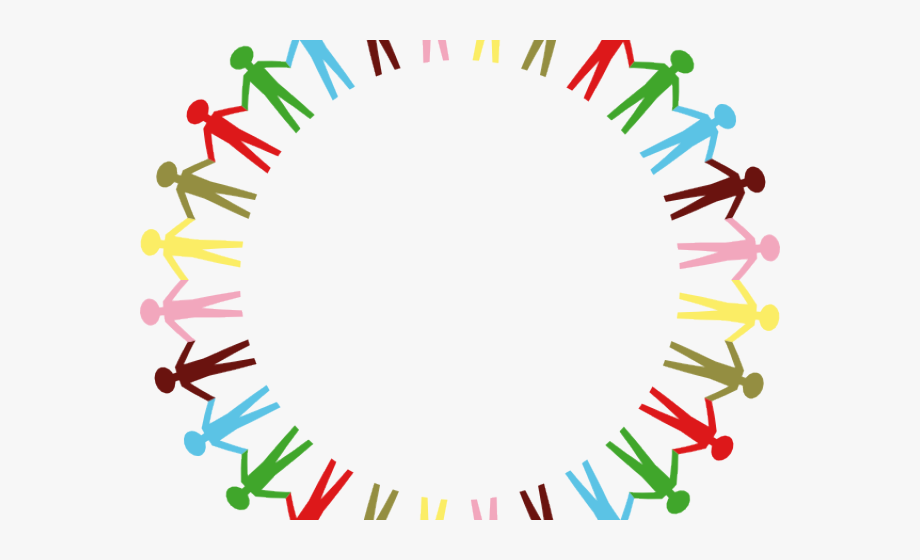 Circle people hold hands. Hand clipart unity