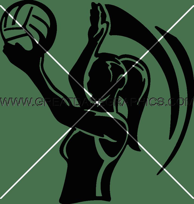Girl overh serve production. Volleyball clipart shirt