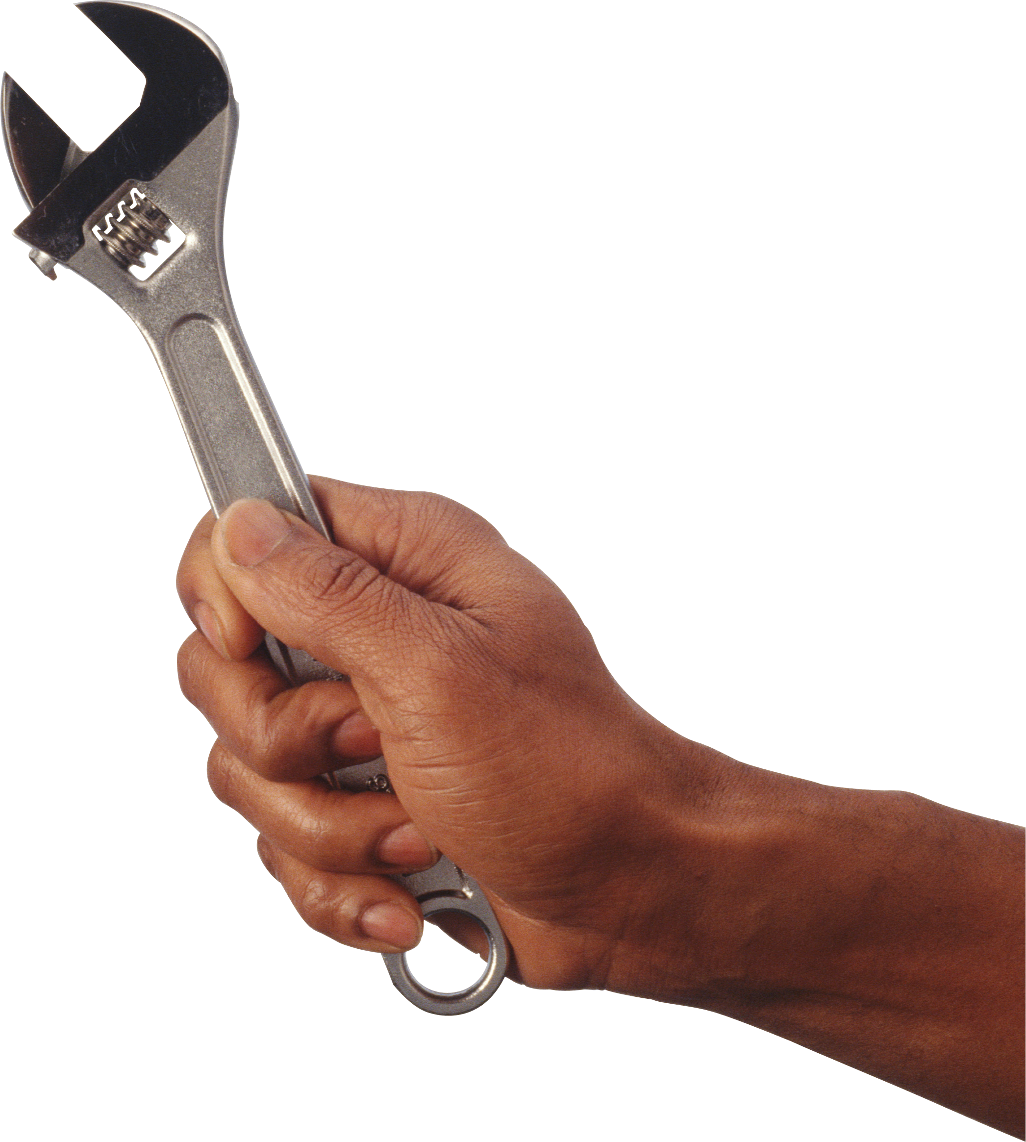 In hand . Hands clipart wrench