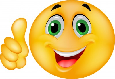 Happy clipart. Face thumbs up