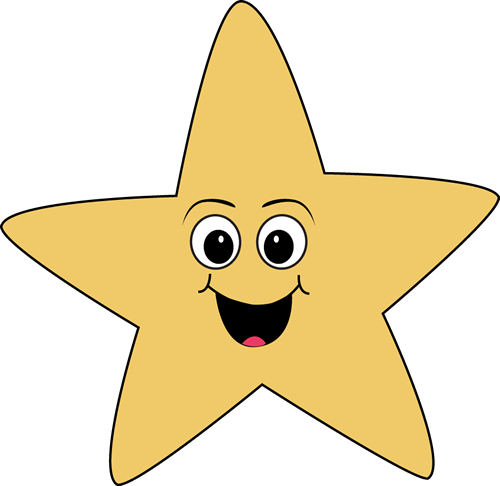 Clipart happy. Face star clip art