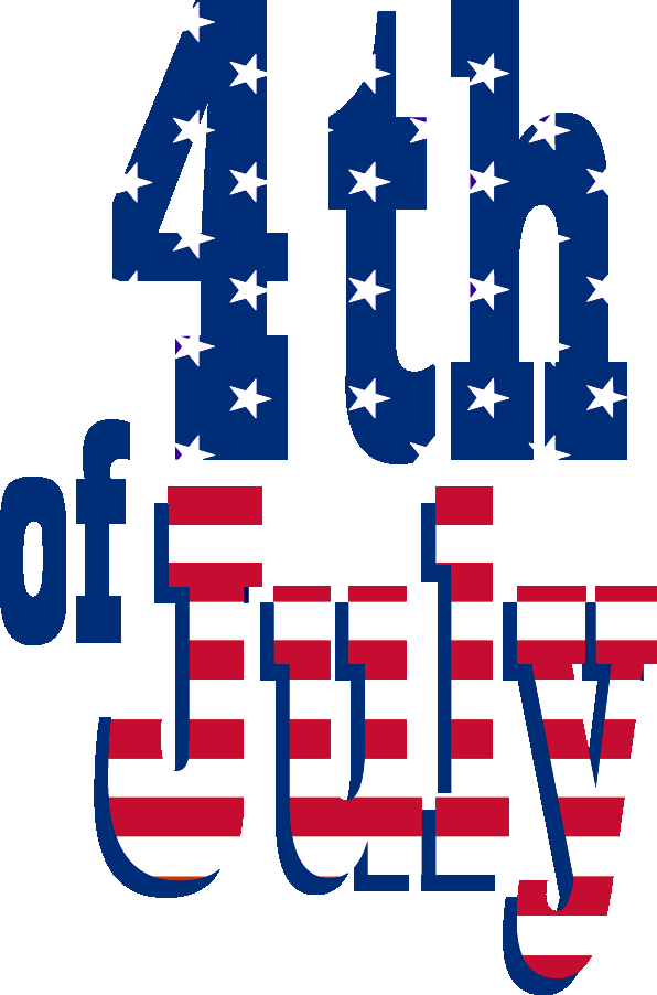Happy fourth of text. Clipart rocket july 4th