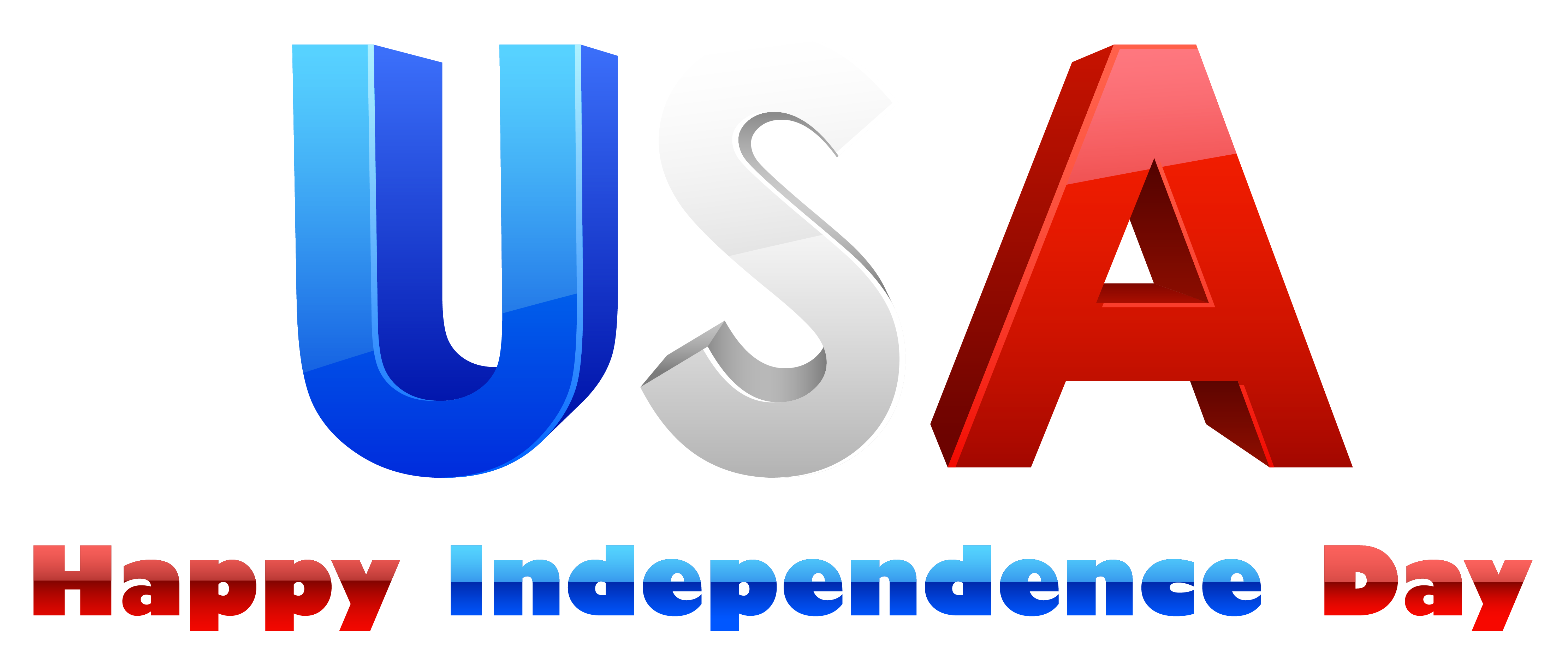 Usa happy independence day. July clipart animated